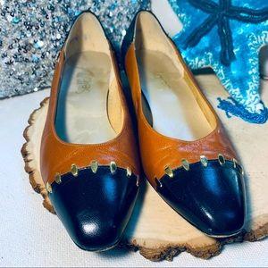 Vintage Shelby Heels Leather Sz 7.5M Brown :Black